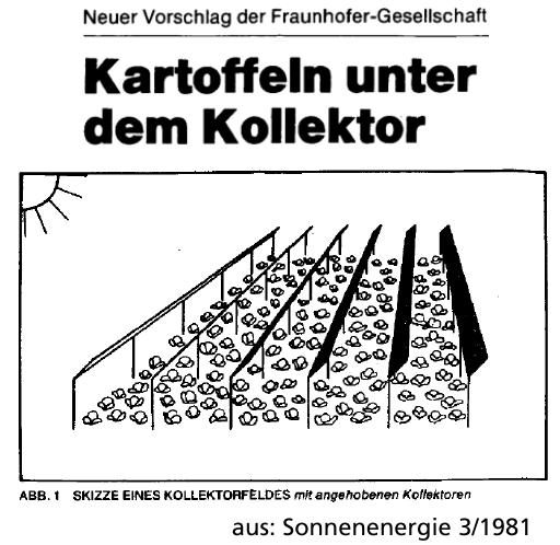 AGROPHOTOVOLTAIK – DOPPELT UND DREIFACH ERNTEN (Vortrag, Frauenhofer, 16.05.20)