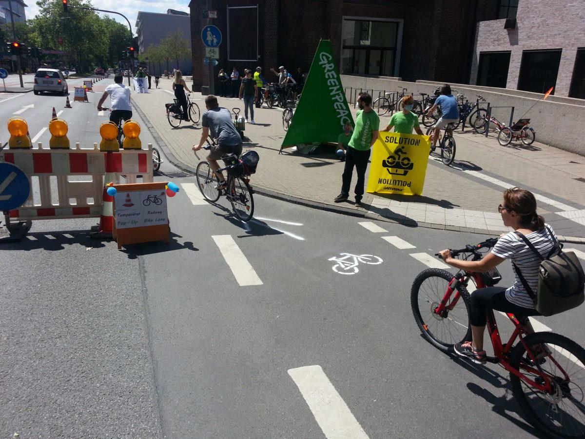 Bochums zweiter Pop-Up-Radweg innerhalb von nur 14 Tagen